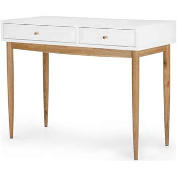 Willow Dressing Table, Oak and White (130 x 55cm)