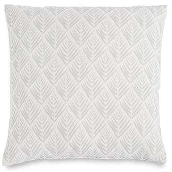 Willow Leaf Print Cushion, Grey Mix (H43 x W43cm)