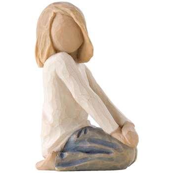 Willow Tree Joyful Child Figurine (H7.5 x W7.5 x D7cm)