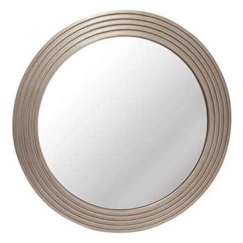 Wilson Champagne Round Mirror (Diameter 66.5cm)