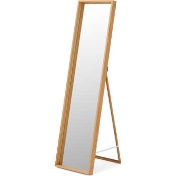 Wilson Freestanding Mirror, Oak (H143 x W38 x D42cm)