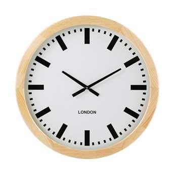 WILSON White Pine Clock (H77.5 x W77.5 x D6cm)