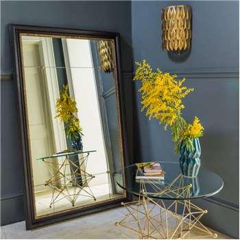 Wilton Black And Gold Rustic Portrait Mirror (130 x 80cm)