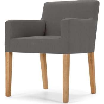 Wilton Carver Dining Chair, Graphite Grey (80 x 61cm)