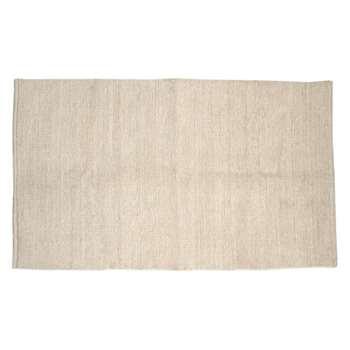 Wilton Chenile Small cream cotton rug 120 x 180cm