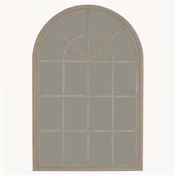 Wilton Grey Arched Window Mirror (150 x 100cm)