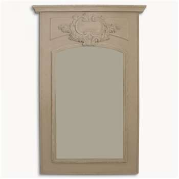 Wilton Grey Portrait Mirror with Motif (180 x 120cm)