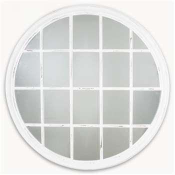 Wilton Palladian White Mirror (120 x 120cm)