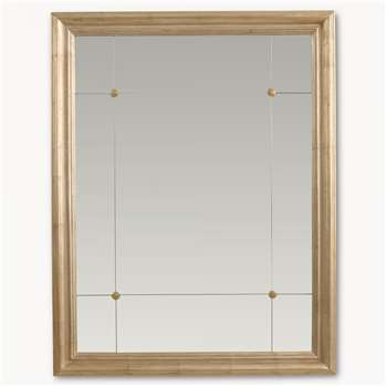 Wilton Tiled and Button Mirror in Gilded Frame (90 x 70cm)