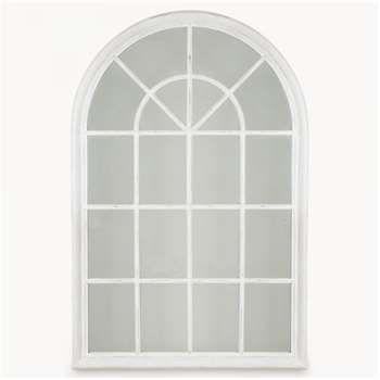 Wilton White Arched Window Mirror (150 x 100cm)