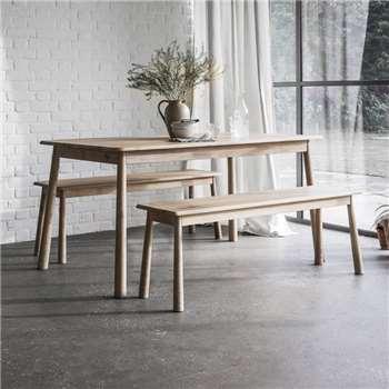 Wimborne Oak Dining Bench (H46 x W130 x D36cm)