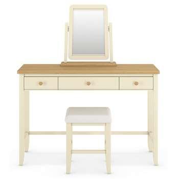 Winchester Dressing Table Set Cream (H80 x W120 x D46cm)