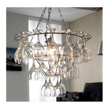 Wine glass chandelier (50-90 x 50cm)