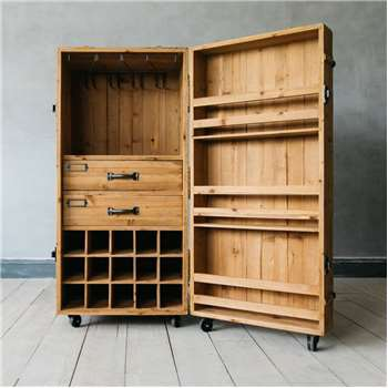 Wine Trunk Cabinet (H109 x W50 x D50cm)
