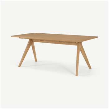 Wingrove 8 Seat Dining Table, French Oak (H75 x W180 x D90cm)