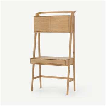 Wingrove Storage Desk, French Oak (H180 x W90 x D50cm)