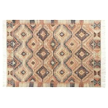 WINONA Multicoloured Wool Kilim Rug (H140 x W200 x D2cm)