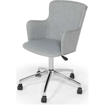 Winona Office Chair, Print Grey (87-100 x 58cm)