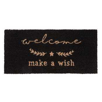 WISH Black Printed Doormat (25 x 55cm)
