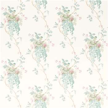 Wisteria Duck Egg/ Pistachio Floral Wallpaper
