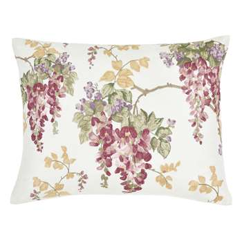 Wisteria Embroidered Cranberry Cushion (H40 x W50cm)