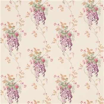Wisteria Grape Floral Wallpaper