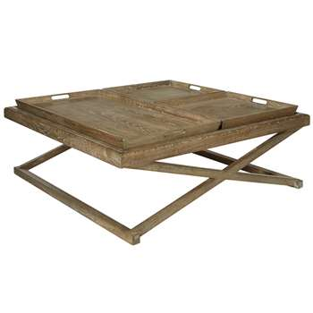 Wistow Coffee Table - Weathered Natural (45 x 120cm)