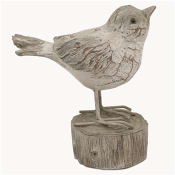 Witney Wood Grain Bird on Pedestal - RR7012 (Height 12cm)