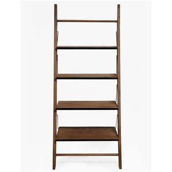 Wood & Zinc Ladder Shelving - Natural (H190 x W80 x D40cm)