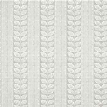 Woodblock Leaves Steel Wallpaper
