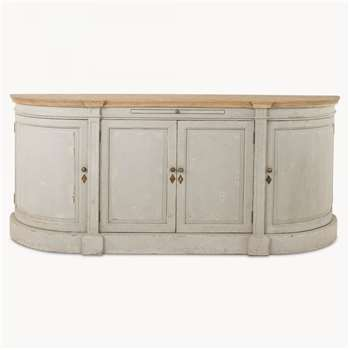 Woodcroft 4-Door Grey Sideboard (85 x 196cm)