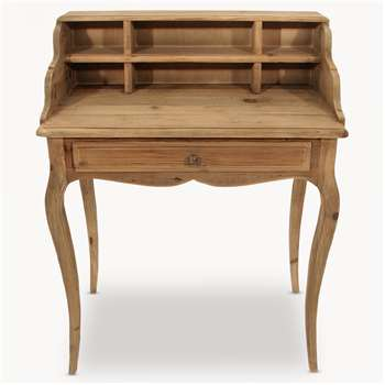 Woodcroft Bleached Pine Small Desk (101 x 80cm)