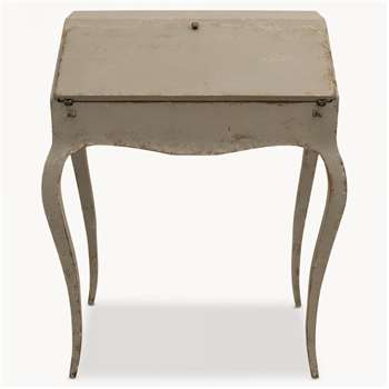 Woodcroft Colonial Grey Small Desk with Shaped Legs (93 x 74cm)