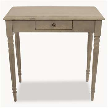 Woodcroft Colonial Grey Table with Drawer (78 x 80cm)