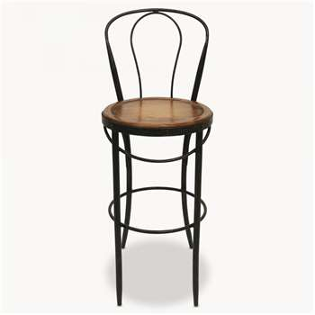 Woodcroft Metal Bistro Bar Chair (111 x 41cm)