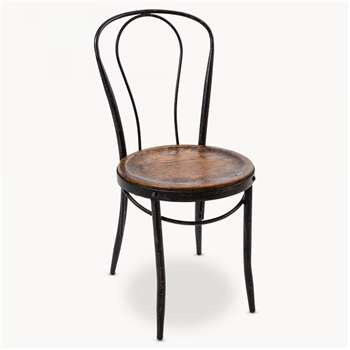 Woodcroft Metal Bistro Chair (90 x 42cm)