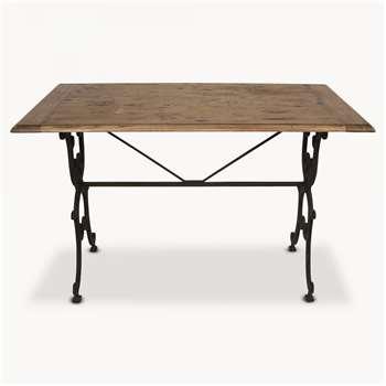 Woodcroft Oak and Iron Rectangular Table (76 x 120cm)