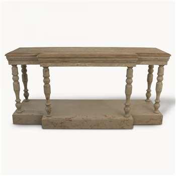 Woodcroft Oak Colonial Grey Console Table (85 x 180cm)