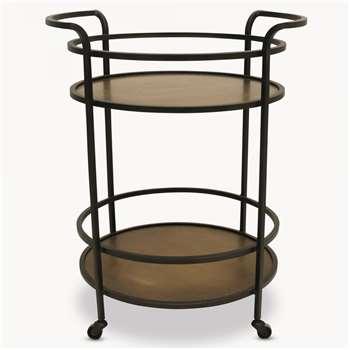 Woodcroft Round Metal Table on Wheels (80 x 65cm)