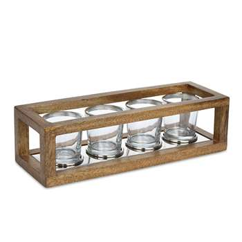 Wooden Frame Tealight Holder (9 x 30.5cm)