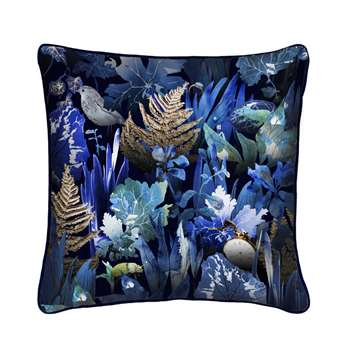 Woodland Undergrowth Luxury Silk Cushion (H45 x W45cm)