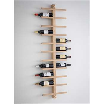 Woodstock Wine Rack - Raw Oak (165 x 44.5cm)