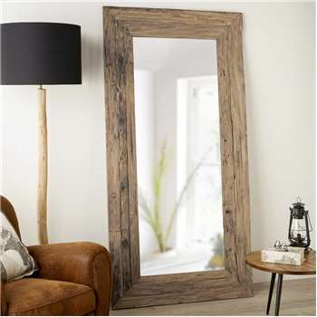 WOODY recycled teak mirror (200 x 100cm)