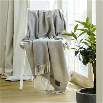WoolMe Cashmere Wool Light Colours Throws Everest Herringbone (130 x 180cm)