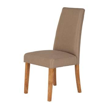 World Furniture Pair of Hanbury Oatmeal Dining Chairs 9 x 46cm