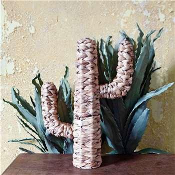 Woven Rattan Cactus Ornament (H46 x W33 x D10cm)