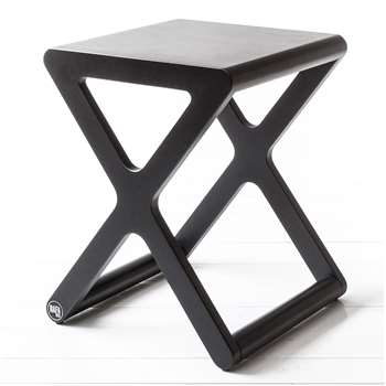 X Designer Kids Stool in Black Wood 45 x 35cm