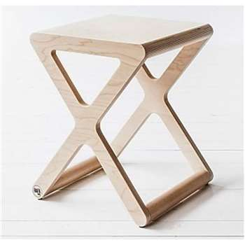 X Designer Kids Stool in Natural Wood 45 x 35cm