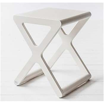 X Designer Kids Stool in Whitewash Wood 45 x 35cm