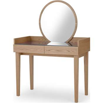 Xander Dressing Table , Ash & Navy Blue (H134 x W96 x D49cm)